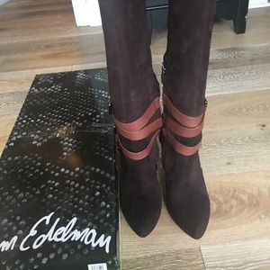Sam Edelman Brown Suede Boots
